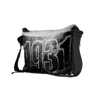 Amo las 1931 - vintage blanco trasero - bolsas de  bolsas messenger