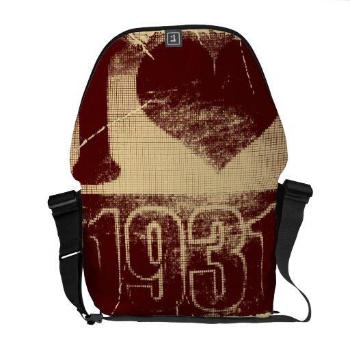 Amo las 1931 - vintage carmesí - bolsas de mensaje bolsa de mensajeria