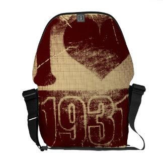 Amo las 1931 - vintage carmesí - bolsas de mensaje bolsas messenger