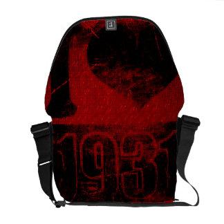 Amo las 1931 - vintage rojo de la noche - bolsas d bolsas de mensajeria
