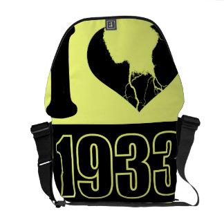 Amo las 1933 - vintage negro amarillo - bolsas de  bolsas de mensajería