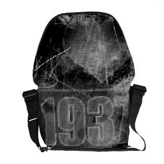 Amo las 1937 - vintage de los pixeles - bolsas de  bolsas messenger