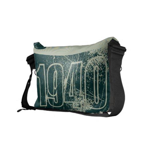 Amo las 1940 - vintage azul marino - bolsas de men bolsa de mensajeria