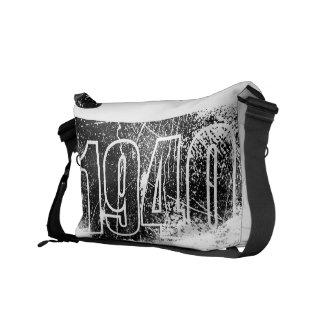 Amo las 1940 - vintage blanco negro - bolsas de me bolsa de mensajería