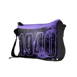 Amo las 1940 - vintage púrpura - bolsas de mensaje bolsa de mensajeria