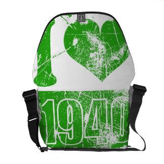Amo las 1940 - vintage verde - bolsas de mensajero bolsas messenger