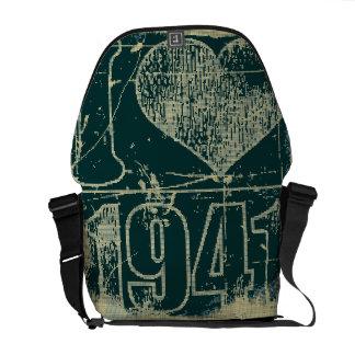 Amo las 1941 - vintage azul marino - bolsas de men bolsas de mensajeria