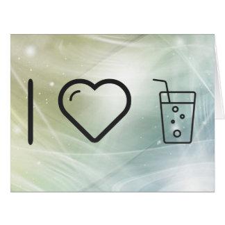 Amo las aguas del gas tarjeta de felicitación grande