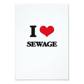"""Amo las aguas residuales invitación 3.5"""" x 5"""""""