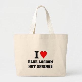 Amo las aguas termales azules de la laguna bolsa de mano