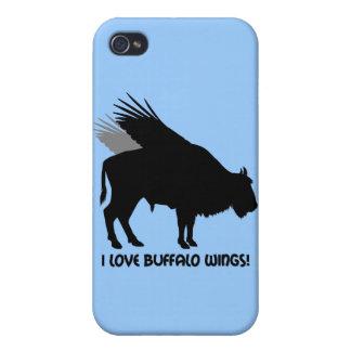 Amo las alas de búfalo iPhone 4 protector