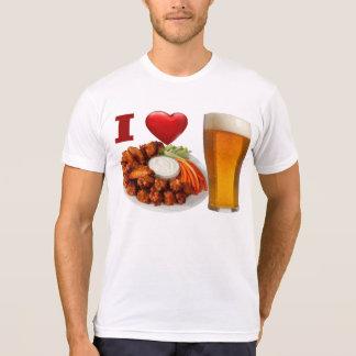 Amo las alas de búfalo y la camiseta de la cerveza camisas