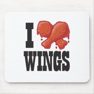 Amo las alas de pollo mouse pads