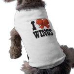 Amo las alas de pollo ropa de perros