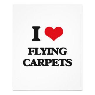 Amo las alfombras de vuelo folleto 11,4 x 14,2 cm