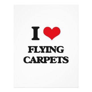 Amo las alfombras de vuelo folleto 21,6 x 28 cm