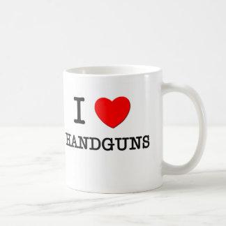 Amo las armas de mano tazas de café