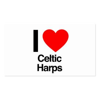 amo las arpas célticas tarjeta de negocio
