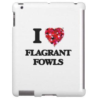 Amo las aves flagrantes funda para iPad
