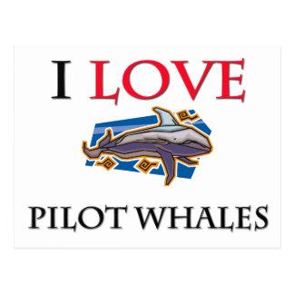 Amo las ballenas experimentales postales