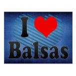 Amo las balsas, el Brasil Postales