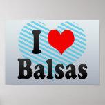 Amo las balsas, el Brasil Posters