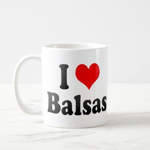 Amo las balsas, el Brasil Tazas De Café