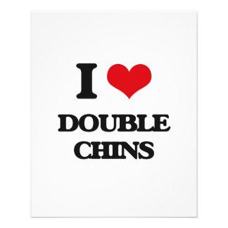 Amo las barbillas dobles tarjetas publicitarias