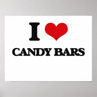 Amo las barras de caramelo impresiones