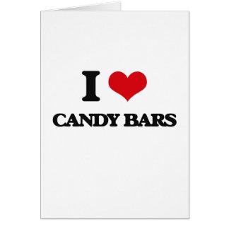 Amo las barras de caramelo tarjeton