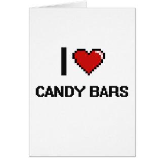 Amo las barras de caramelo tarjeta de felicitación