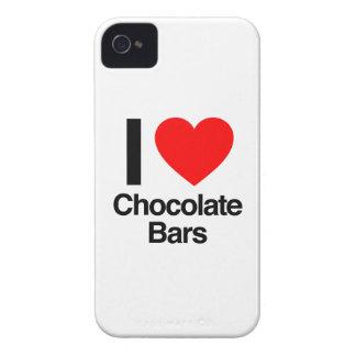 amo las barras de chocolate iPhone 4 cárcasas