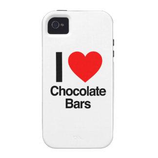 amo las barras de chocolate Case-Mate iPhone 4 fundas