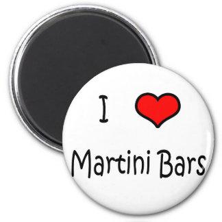 Amo las barras de Martini Imán De Nevera