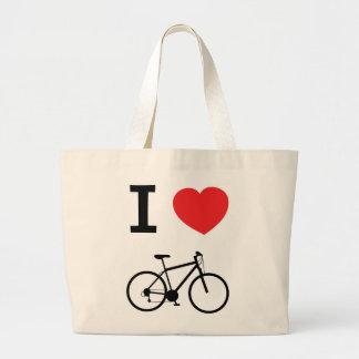 Amo las bicis bolsa de mano