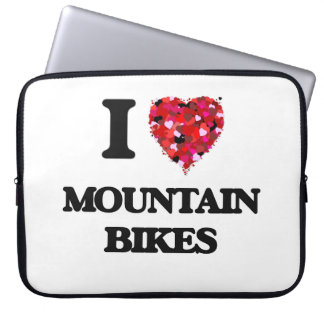 Amo las bicis de montaña funda computadora