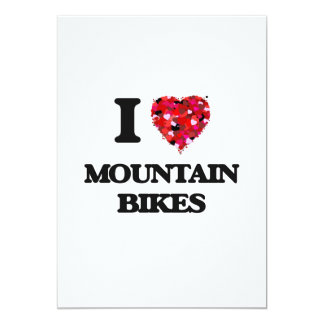"""Amo las bicis de montaña invitación 5"""" x 7"""""""