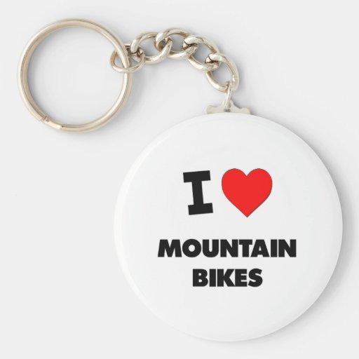 Amo las bicis de montaña llavero redondo tipo pin