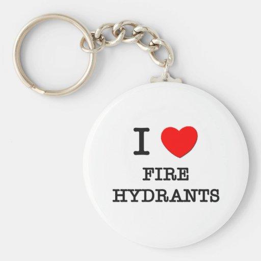 Amo las bocas de incendios llavero redondo tipo pin