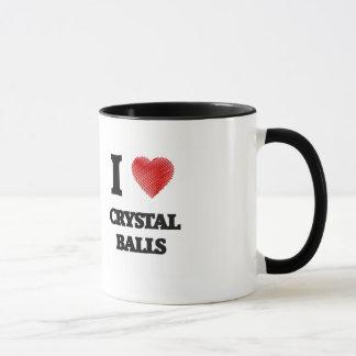 Amo las bolas de cristal taza