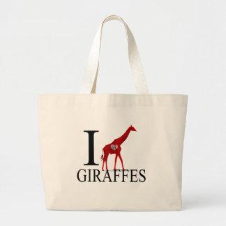 Amo las bolsas de asas de las jirafas