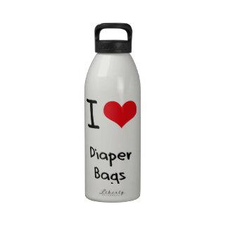 Amo las bolsas de pañales botella de agua