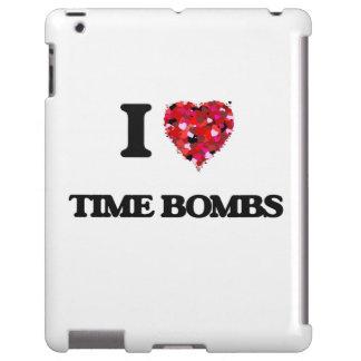 Amo las bombas de relojería funda para iPad