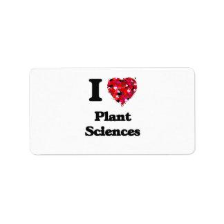 Amo las botánicas etiqueta de dirección