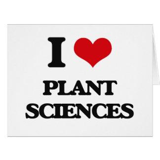 Amo las botánicas tarjeta de felicitación grande