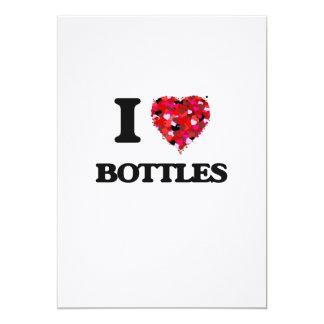"""Amo las botellas invitación 5"""" x 7"""""""