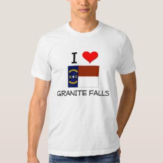 Amo las caídas Carolina del Norte del granito Remera