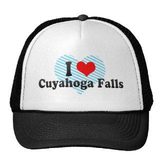 Amo las caídas de Cuyahoga Estados Unidos Gorras De Camionero