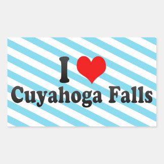 Amo las caídas de Cuyahoga Estados Unidos Pegatina