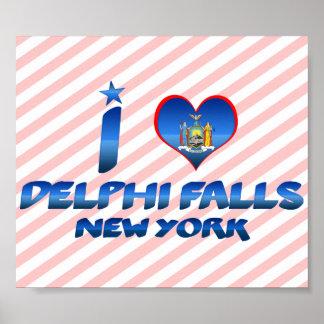 Amo las caídas de Delphi Nueva York Impresiones